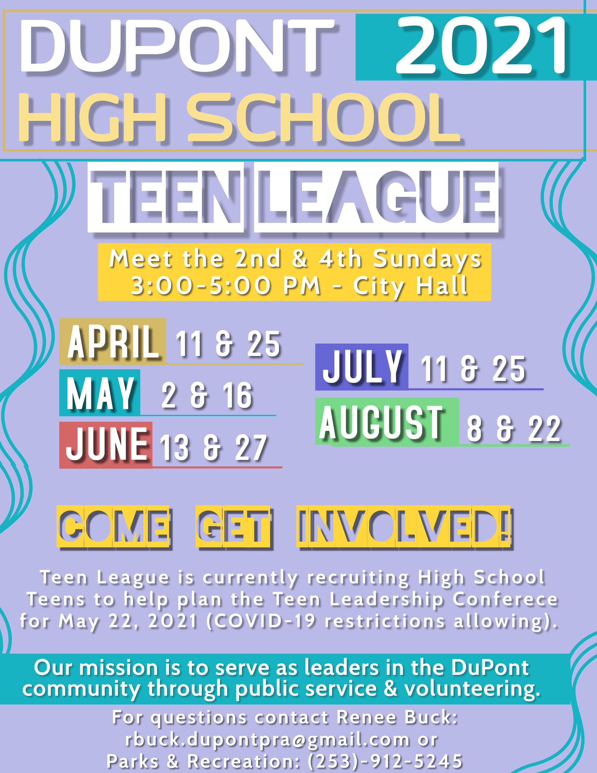 Teen League april-aug